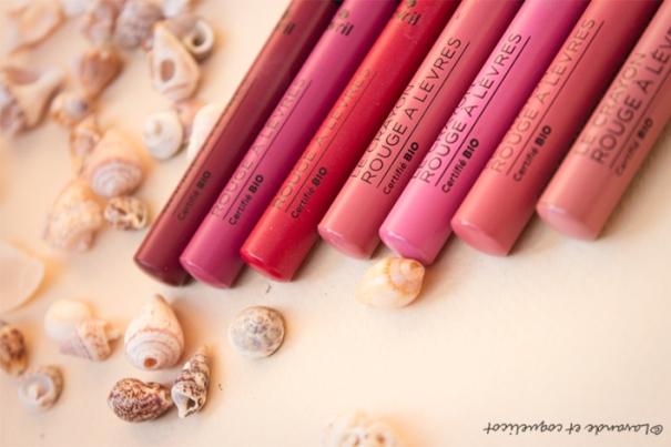 rouges à lèvres avril